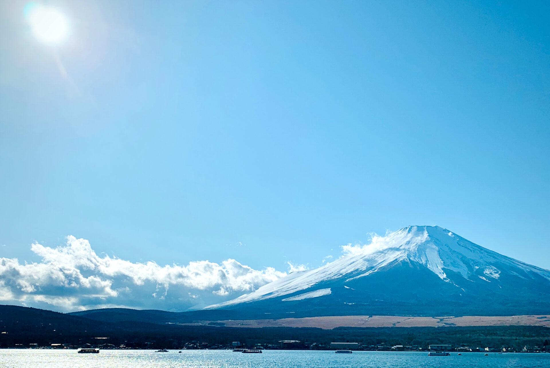 山中湖からの富士山